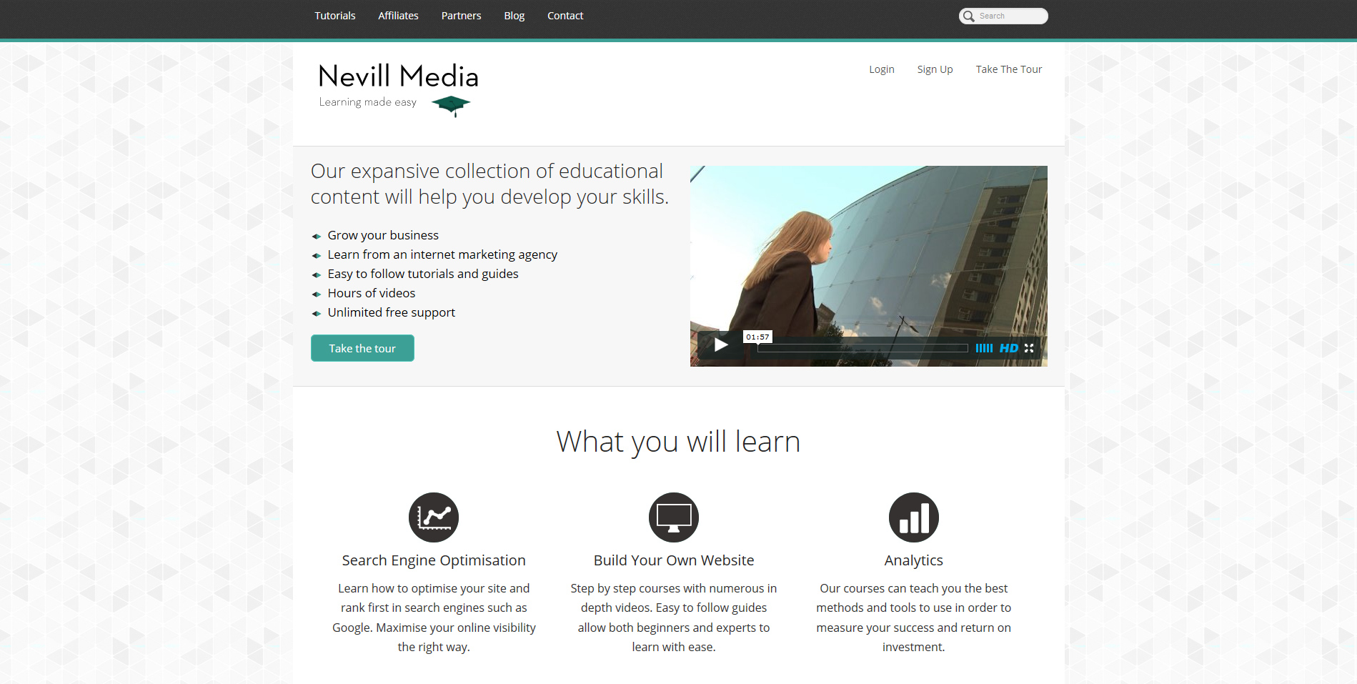 Nevill Media Homepage